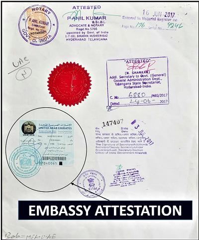 Embassy Attestation, Saudi Embassy Attestation, UAE Embassy Attestsation