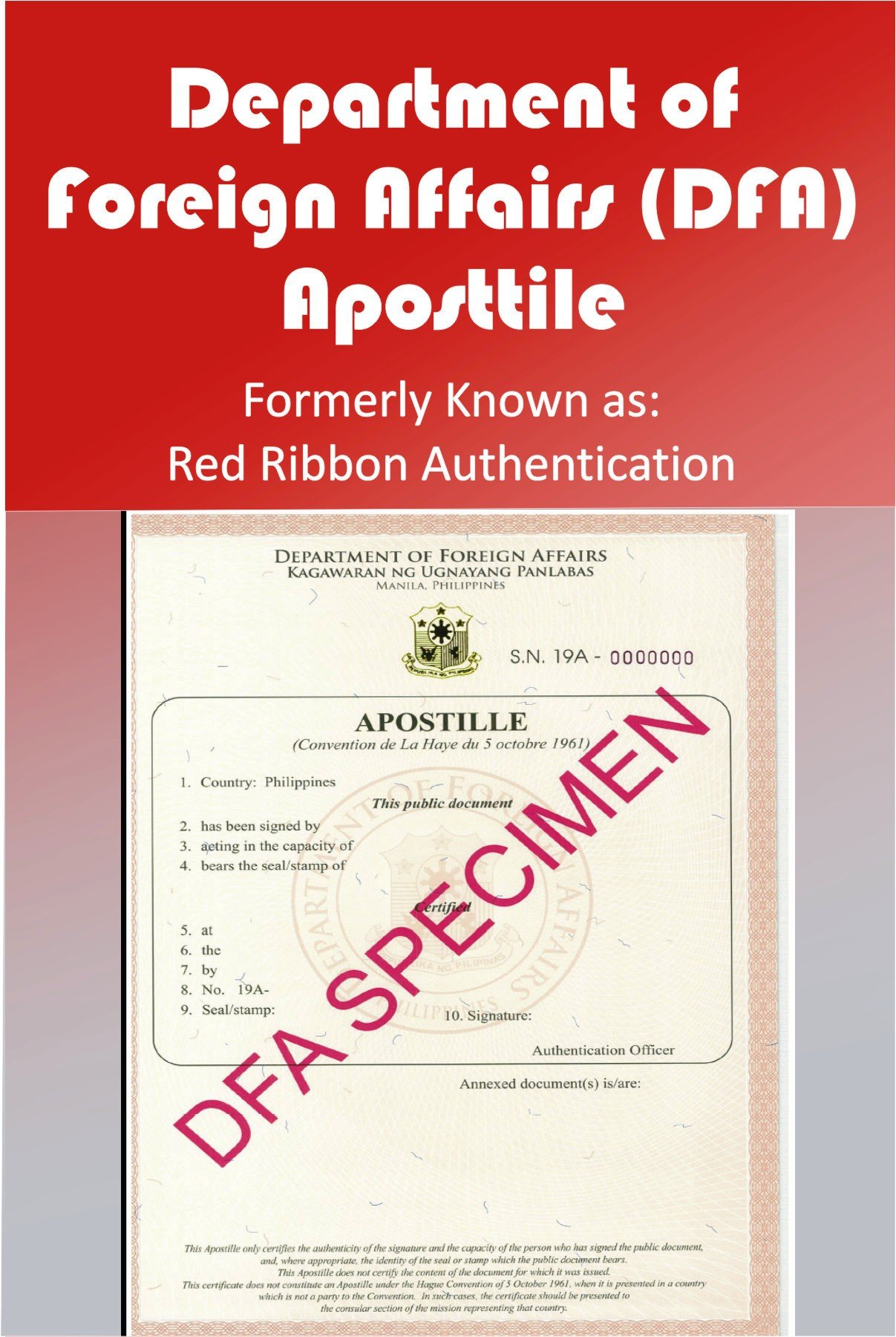 Department of Foreign Affairs (DFA) , Red Ribbon